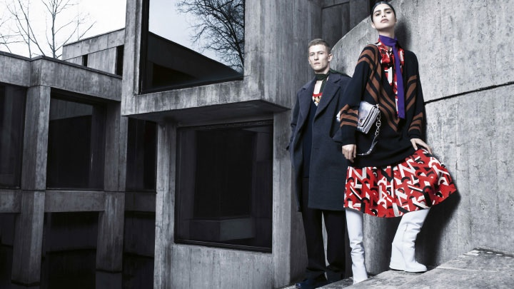 prada fall winter 2014 campaign photos1 Mica Arganaraz is the Star of Pradas Fall 2014 Campaign