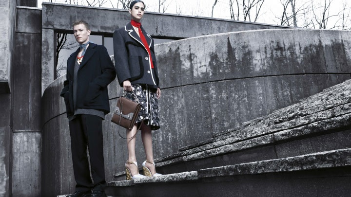 prada fall winter 2014 campaign photos2 Mica Arganaraz is the Star of Pradas Fall 2014 Campaign