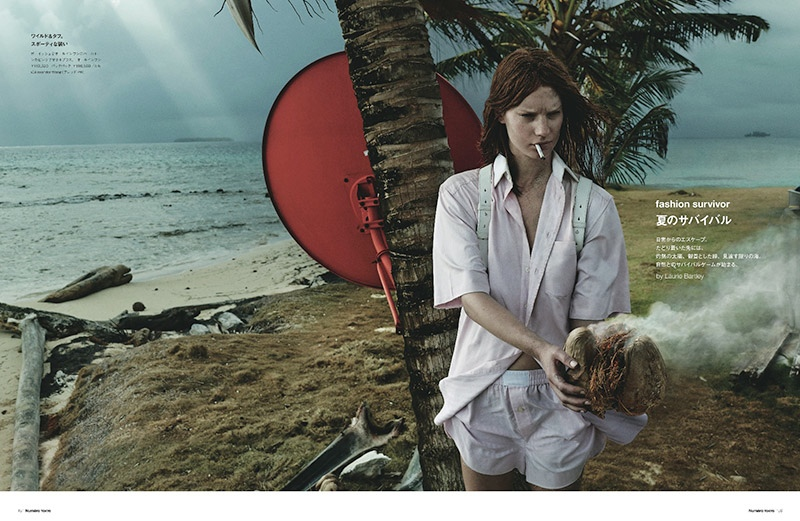 Fashion Survivor: Querelle Jansen Gets Shipwrecked for Numero Tokyo
