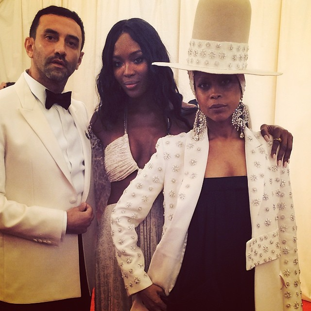 Riccardo Tisci, Naomi Campbell and Erykah Badu in Givenchy