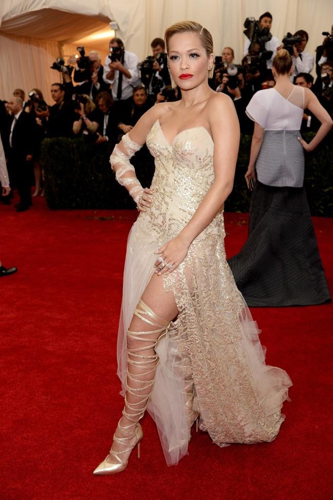Rita Ora wears custom Donna Karan Atelier