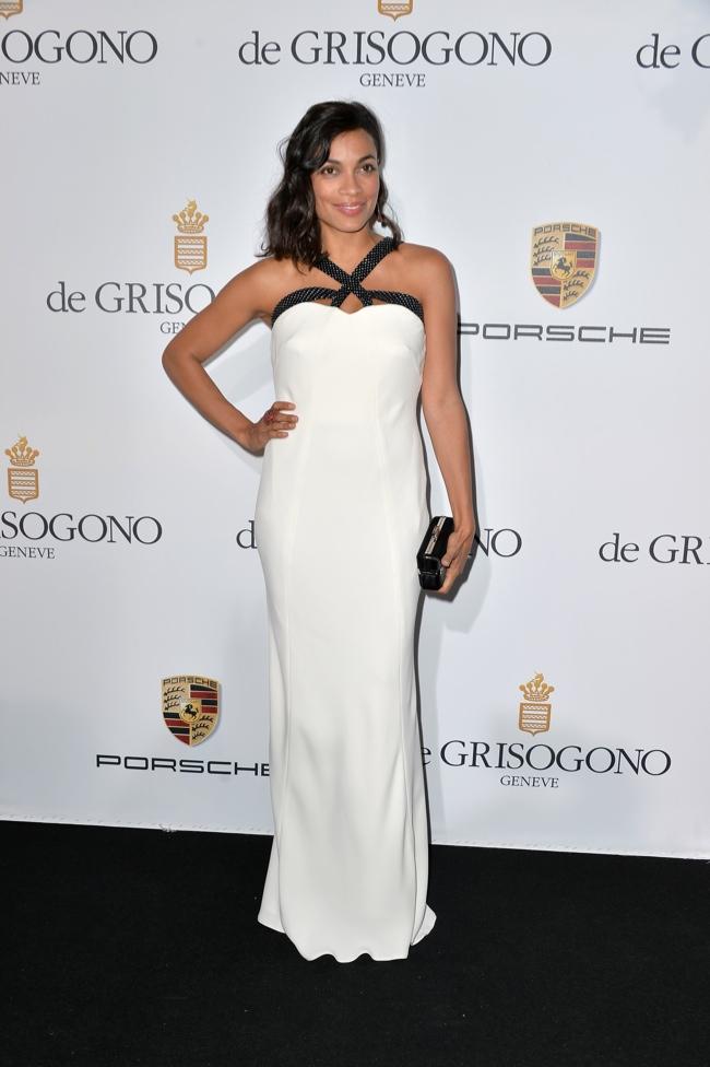 Rosario Dawson was spotted in Giorgio Armani