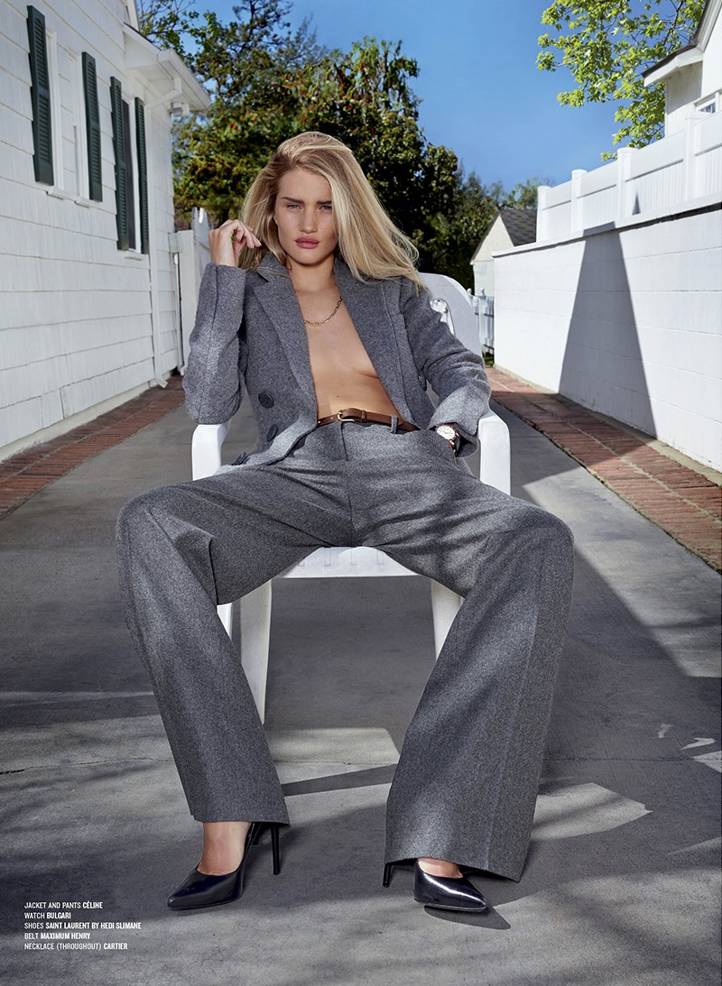 rosie huntington whiteley pants3 Rosie Huntington Whiteley Wears the Pants for Sexy V Magazine Shoot