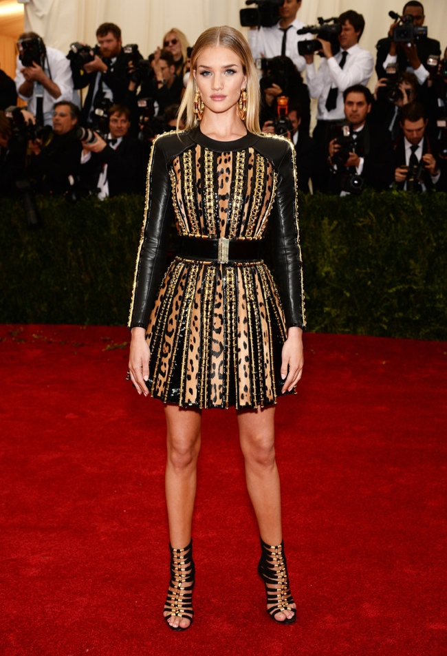 rosie hw balmain 2014 met gala 2014 Met Gala Red Carpet Looks
