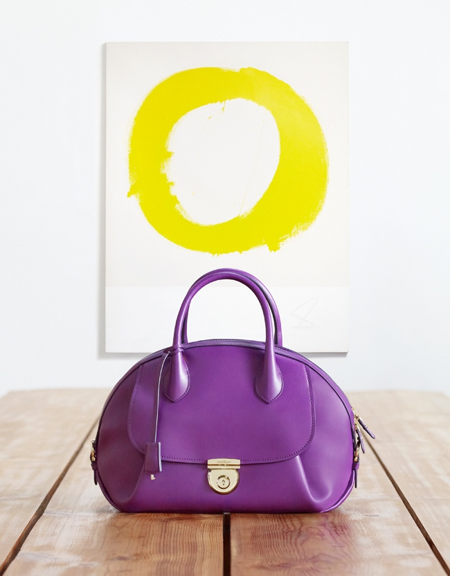 salvatore ferragamo fiamma handbag1 Salvatore Ferragamo Launches Fiamma Handbag with Langley Fox, Mariel Hemingway + More