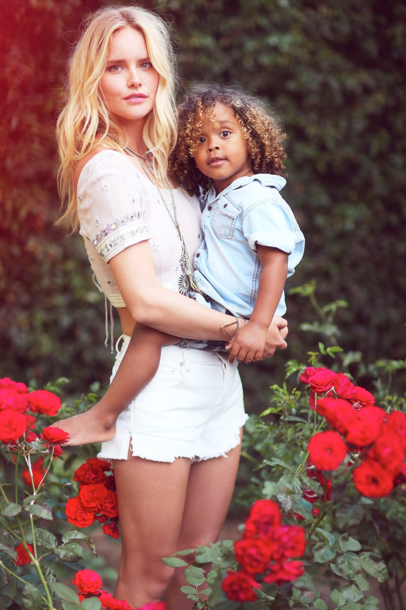 shelby keeton son mothers day fp8 Adorable! Shelby Keeton Poses with Her Son for Free People Mother's Day Shoot