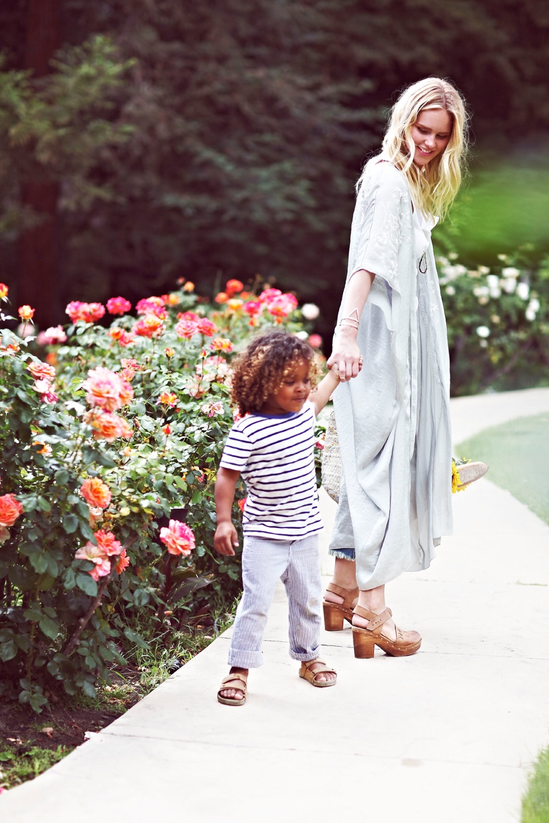 shelby keeton son mothers day fp9 Adorable! Shelby Keeton Poses with Her Son for Free People Mother's Day Shoot