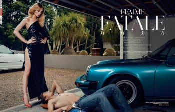 Femme Fatale: Niki Hajdu Plays a Seductress for Bazaar China Shoot by Shxpir