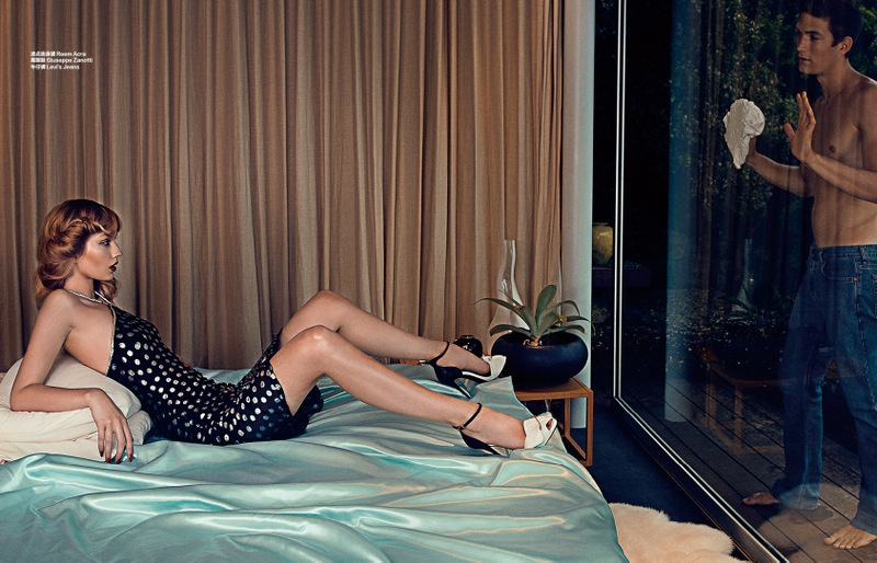 shxpir gold digger4 Femme Fatale: Niki Hajdu Plays a Seductress for Bazaar China Shoot by Shxpir