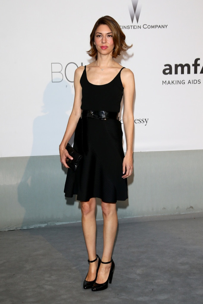 Sofia Coppola kept it simple in a Louis Vuitton look