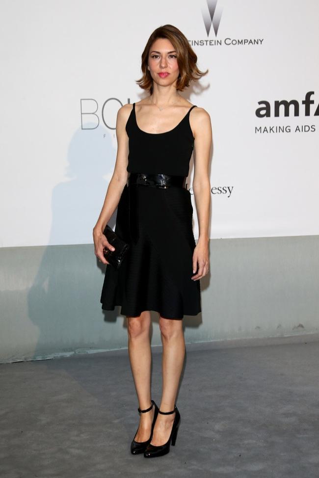 Sofia Coppola kept it simple in a Louis Vuitton look