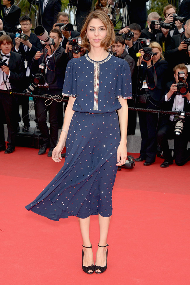 Director Sofia Coppola wore a Michael Kors dress in navy