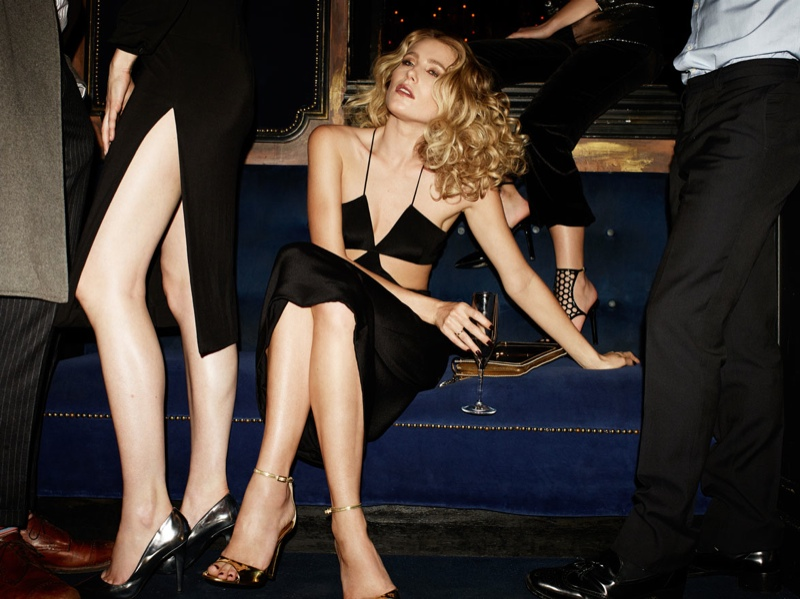 Dree Hemingway Channels Disco Glam for Tamara Mellon Spring Campaign