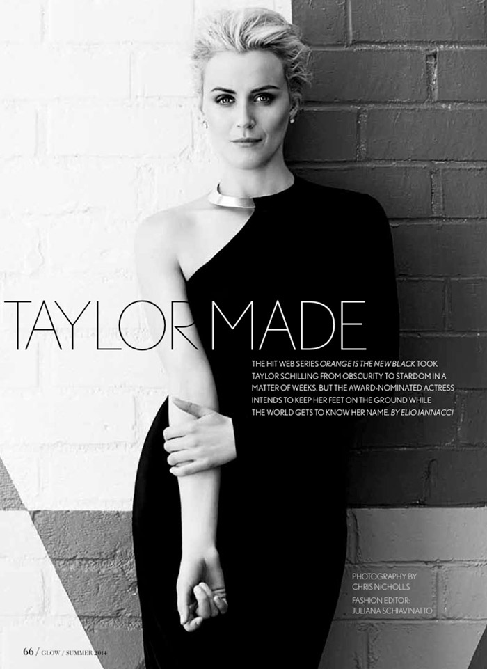 taylor schilling photos1 OITNB Star Taylor Schilling Gets Glam for Glow Shoot by Chris Nicholls