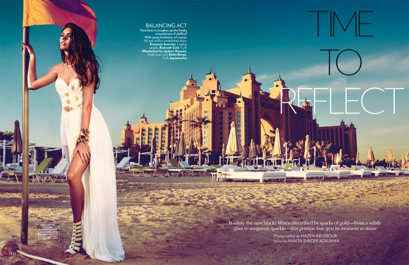 time to reflect 2 Ashika & Magdalena Pose for Mazen Abusrour in Vogue Indias May Cover Story