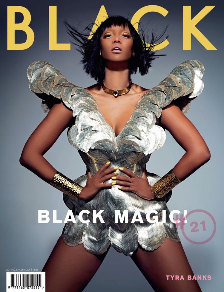 tyra banks black magazine photo 001 Tyra Banks Covers Black Magazine, Talks ANTM + Beauty