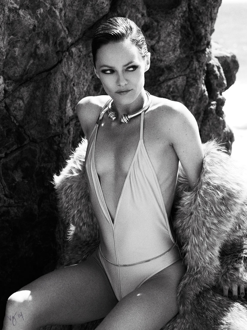 vanessa paradis 2014 photo shoot04 Vanessa Paradis Channels Her Inner Vixen for Violet Grey Shoot