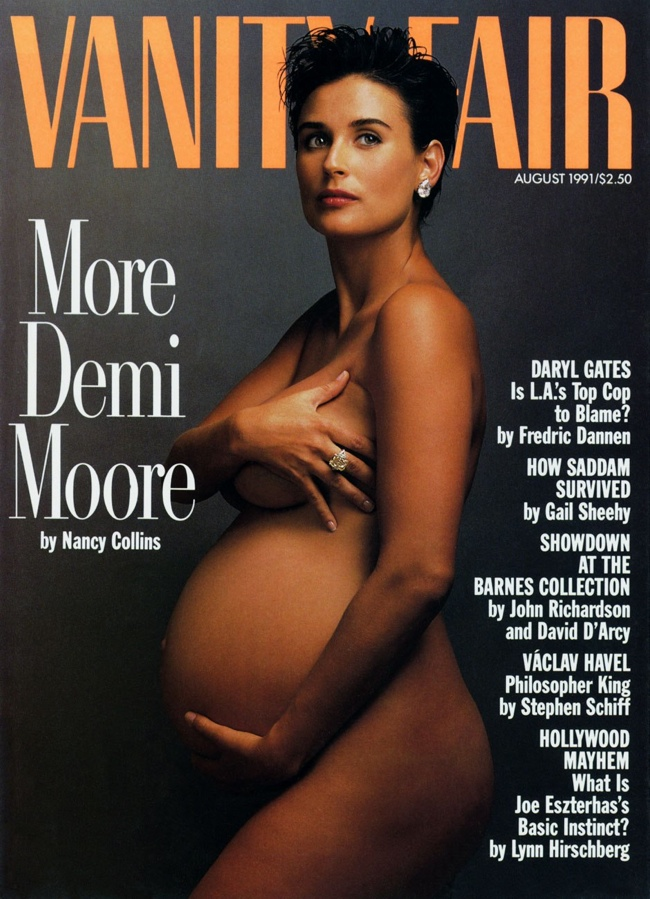 vanity fair august 1991 demi moore 10 Controversial Covers That We Wont Forget Anytime Soon