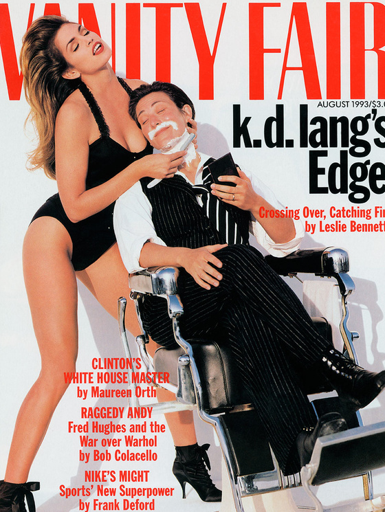KD Lang and Cindy Crawford for Vanity Fair August 1993 Cover