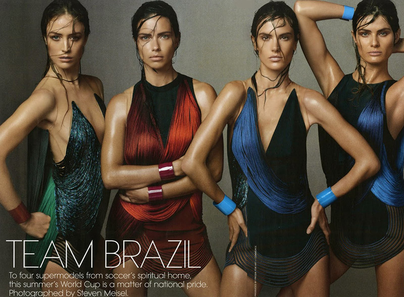 Brazilian Models Adriana Lima, Raquel Zimmermann, Alessandra Ambrosio & Isabeli Fontana Unite for Vogue