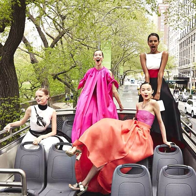 vogue instagram ball gowns1 Hanne Gaby Odiele, Xiao Wen Ju + More Prep for Met Gala in Vogue Instagram Shoot