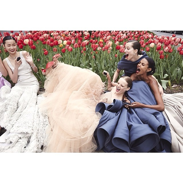 vogue instagram ball gowns2 Hanne Gaby Odiele, Xiao Wen Ju + More Prep for Met Gala in Vogue Instagram Shoot