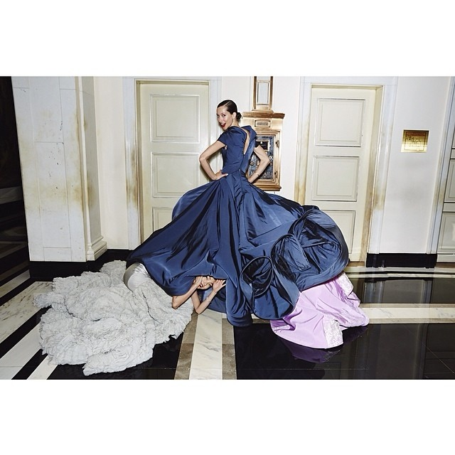 vogue instagram ball gowns4 Hanne Gaby Odiele, Xiao Wen Ju + More Prep for Met Gala in Vogue Instagram Shoot