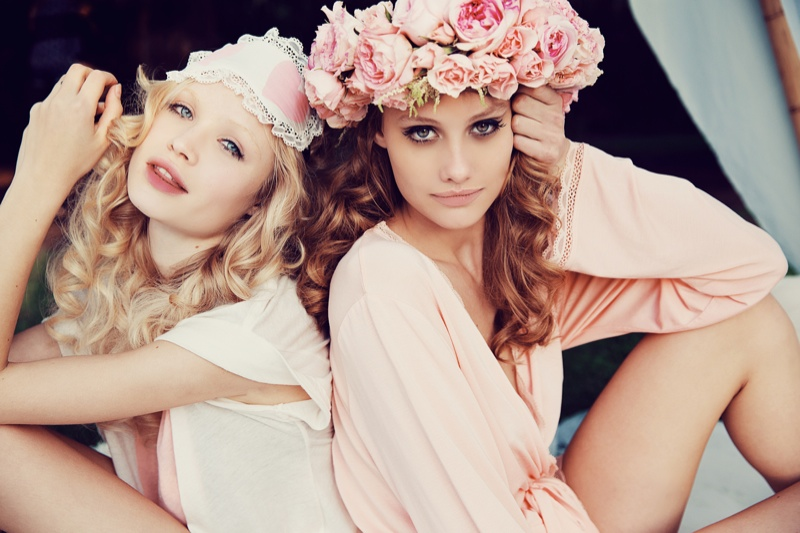 wildfox couture summer 2014 collection19 Queeny + Camilla Star in Wildfox's Dreamy Summer 14  Shoot by Mark Hunter