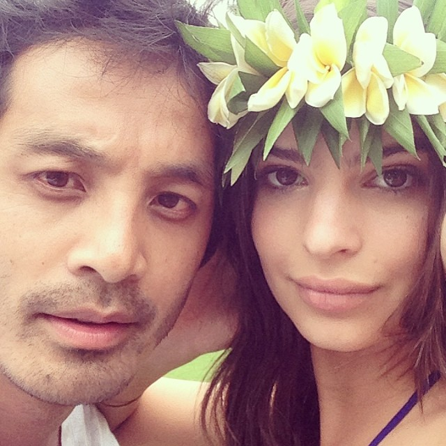 Yu Tsai takes photo with model Emily Ratajkowski