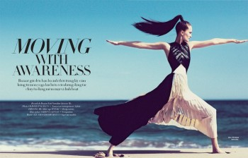 Alla Kostromichova Gets Moving for Harper's Bazaar Vietnam Shoot