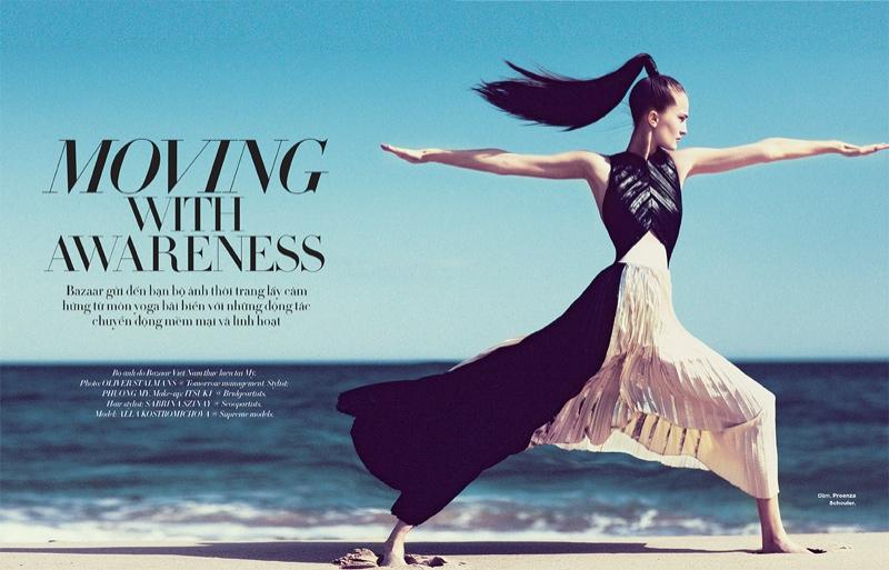 Alla Kostromichova Model1 Alla Kostromichova Gets Moving for Harpers Bazaar Vietnam Shoot