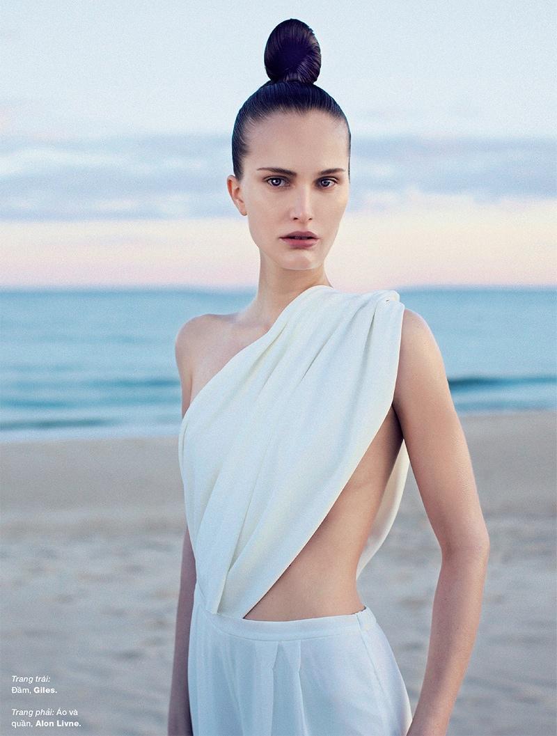 Alla Kostromichova Model2 Alla Kostromichova Gets Moving for Harpers Bazaar Vietnam Shoot