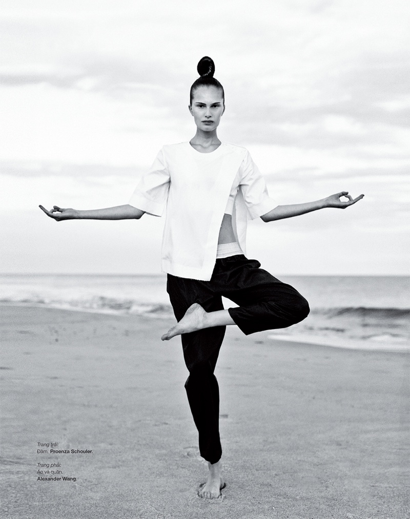 Alla Kostromichova Model4 Alla Kostromichova Gets Moving for Harpers Bazaar Vietnam Shoot