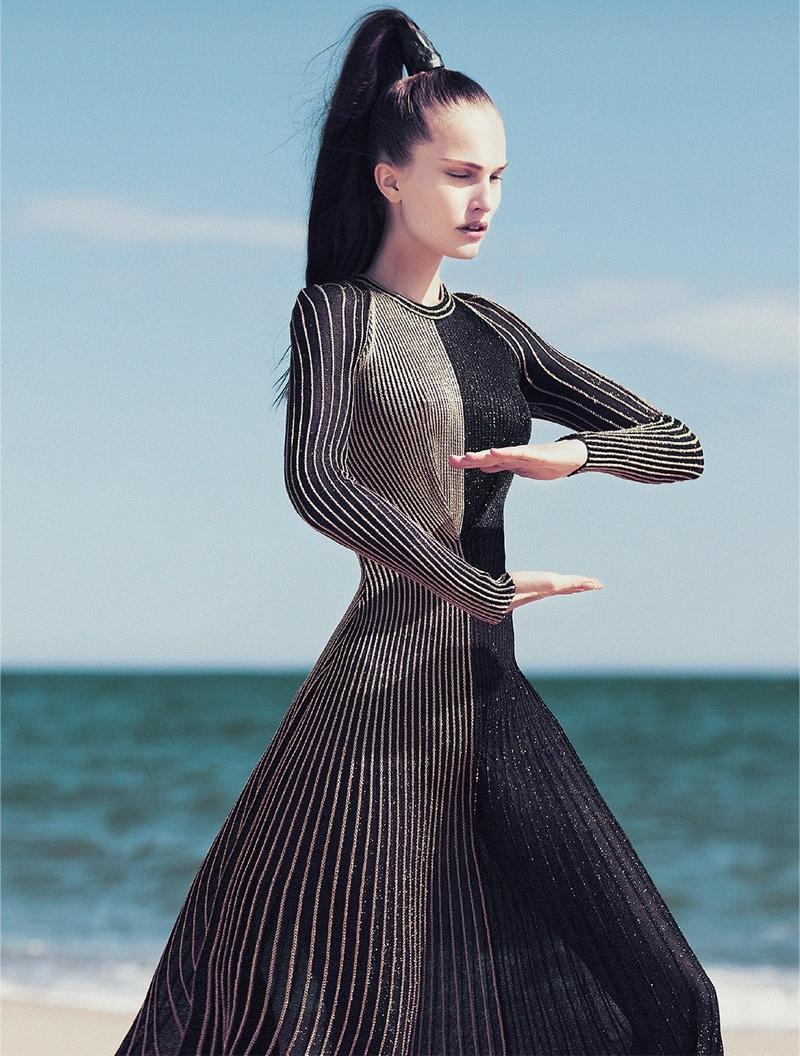 Alla Kostromichova Model5 Alla Kostromichova Gets Moving for Harpers Bazaar Vietnam Shoot