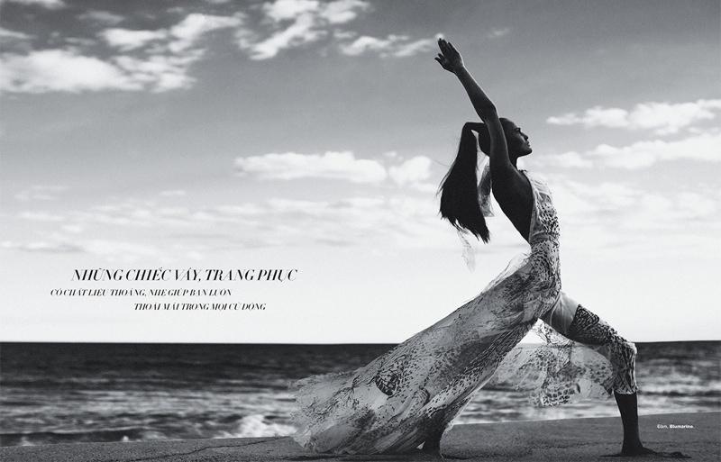 Alla Kostromichova Model8 Alla Kostromichova Gets Moving for Harpers Bazaar Vietnam Shoot