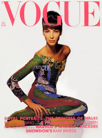 Christy Turlington on Vogue UK December 1990 Cover