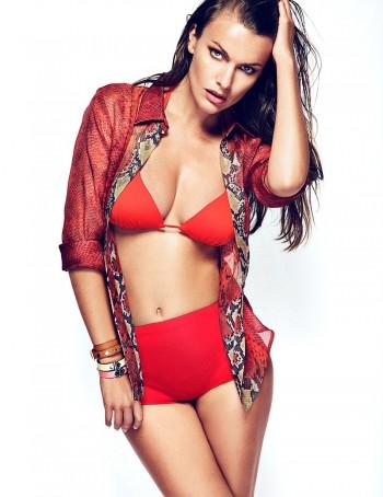 Filippa Hamilton Models Swimsuits for Woman Shoot by Richard Ramos