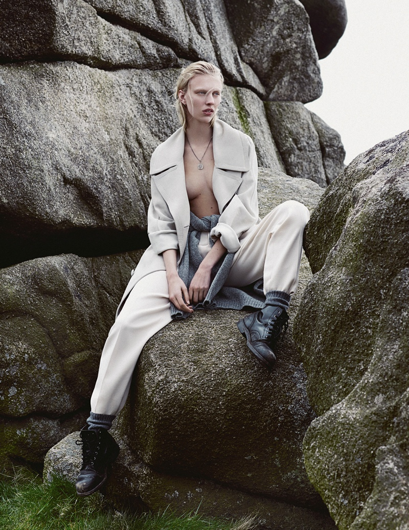 Juliana Schurig Model Fashion6 Juliana Schurig Wears Androgynous Style for Emma Tempest in Vogue Russia Spread
