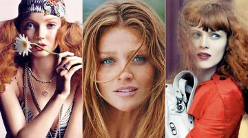 See famous models with red hair