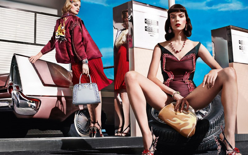 Prada Spring/Summer 2012 Campaign with Guinevere van Seenus and Megan Collison