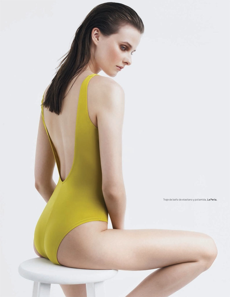 Vasilisa Pavlova Swimsuits3 Vasilisa Pavlova Models Swimsuits for LOfficiel Mexico by Andrew Yee