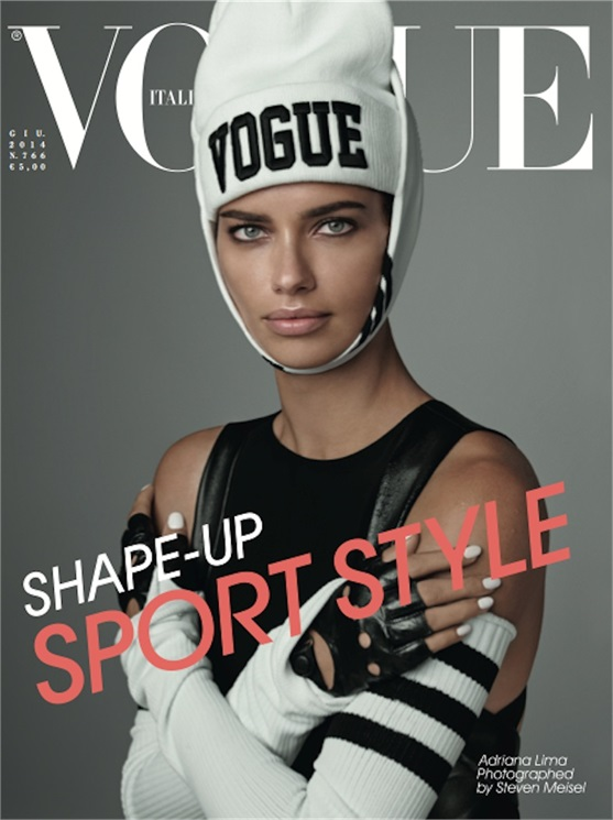 adriana lima vogue italia cover 2014 Adriana Lima Lands First EVER Vogue Italia Cover for June