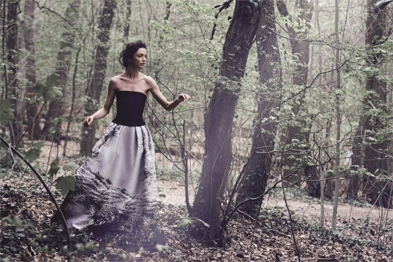 alberta ferretti fall 2014 campaign 2 Mariacarla Boscono Enters the Enchanted Forest for Alberta Ferrettis Fall 2014 Campaign