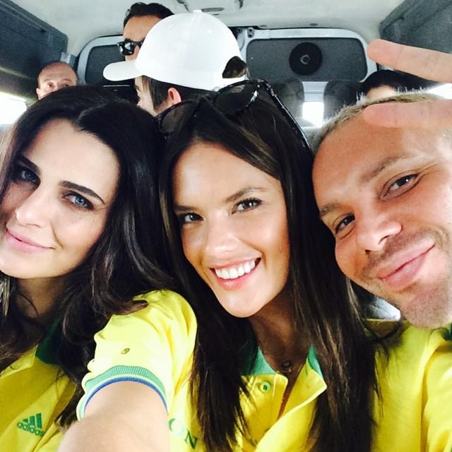 Alessandra Ambrosio supports Brazil