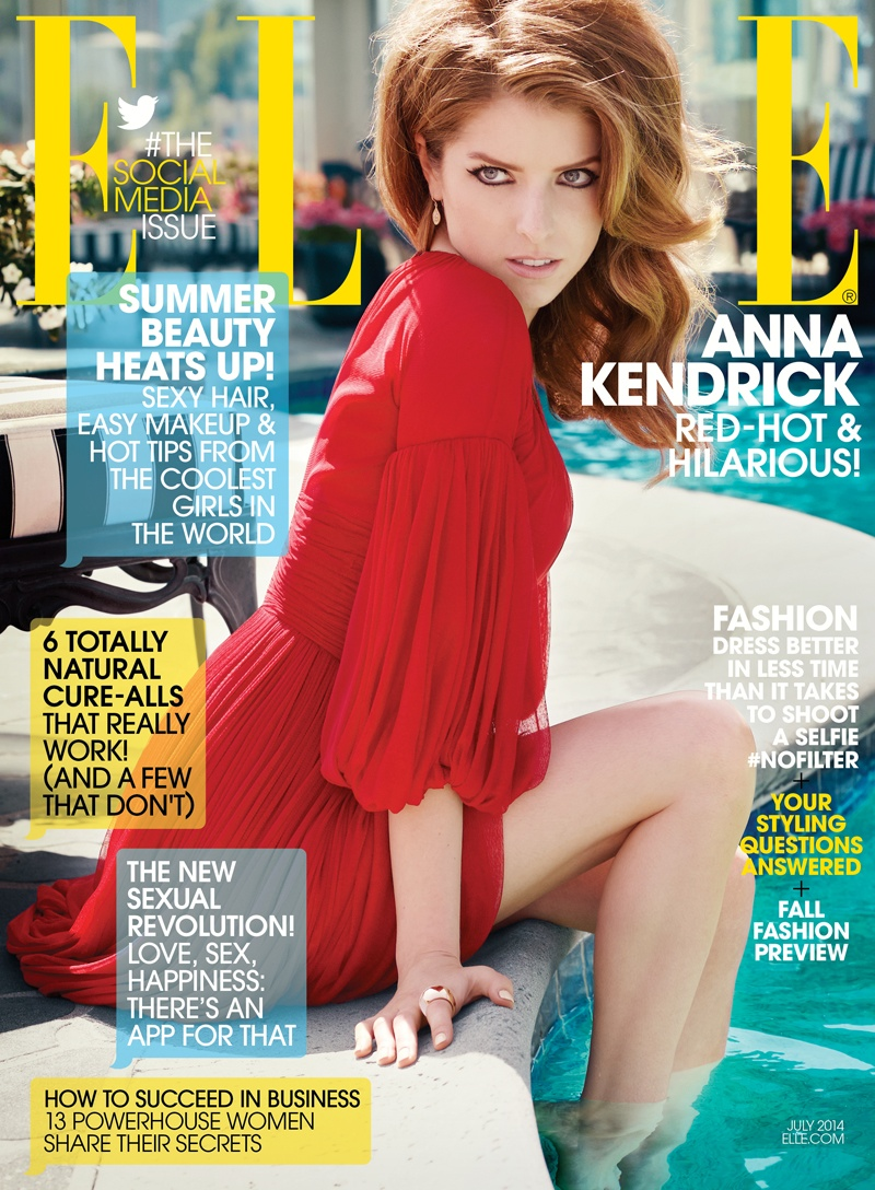 anna kendrick elle shoot1 Anna Kendrick Poses for ELLE, Talks Being a Late Bloomer