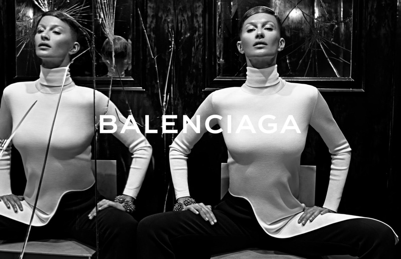 balenciaga fall winter 2014 advertisements2 Balenciaga Releases More Images From Fall 14 Ads with Gisele Bundchen
