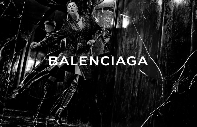 balenciaga fall winter 2014 advertisements4 Balenciaga Releases More Images From Fall 14 Ads with Gisele Bundchen