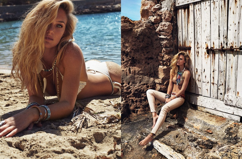 bar refaeli swimsuit shoot5 Bar Refaeli Stuns in Swimsuit Shoot for Elle Spain by Xavi Gordo