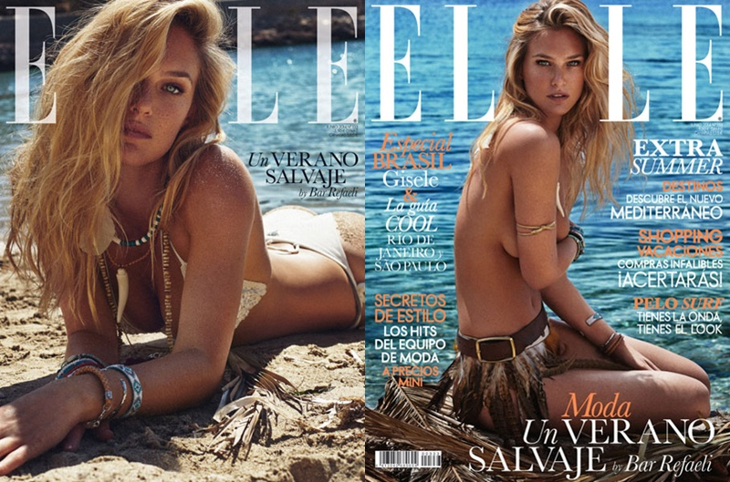 bar refaeli swimsuit shoot7 Bar Refaeli Stuns in Swimsuit Shoot for Elle Spain by Xavi Gordo