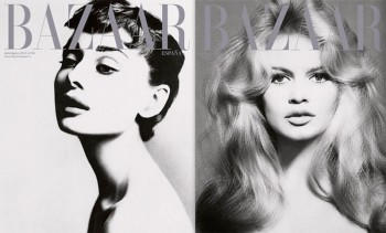 Bazaar Spain Tributes Richard Avedon with Audrey Hepburn, Brigitte Bardot, Elizabeth Taylor Covers